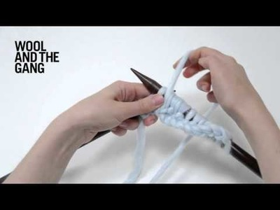 How to knit 1x1 rib