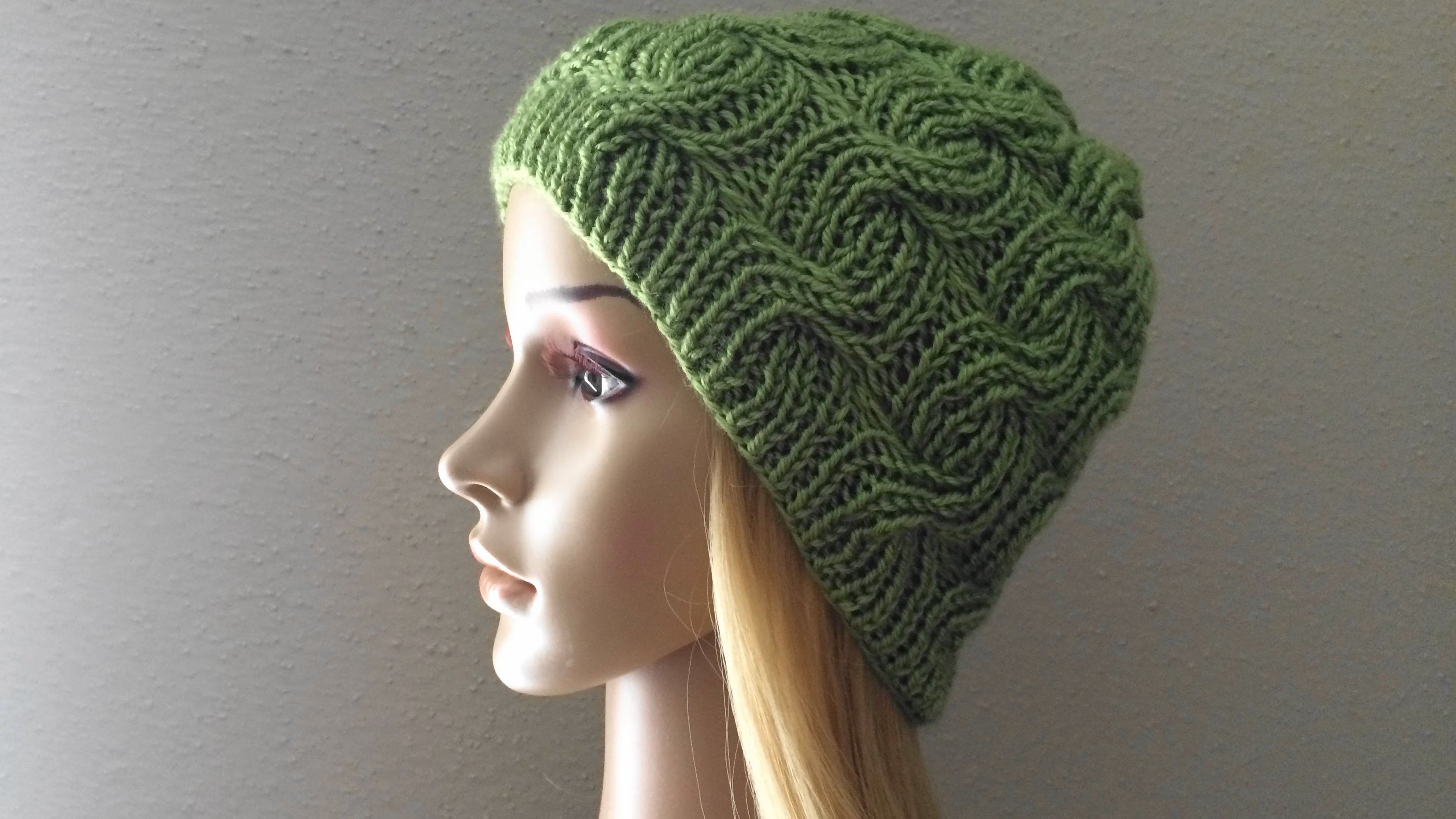 How To Knit A Ribbed Cable Hat, Lilu's Knitting Corner Video # 27
