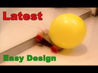 How to make a Balloon Powered Car - Very simple - Project for kids