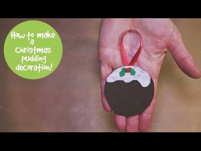 How to make a Christmas pudding decoration
