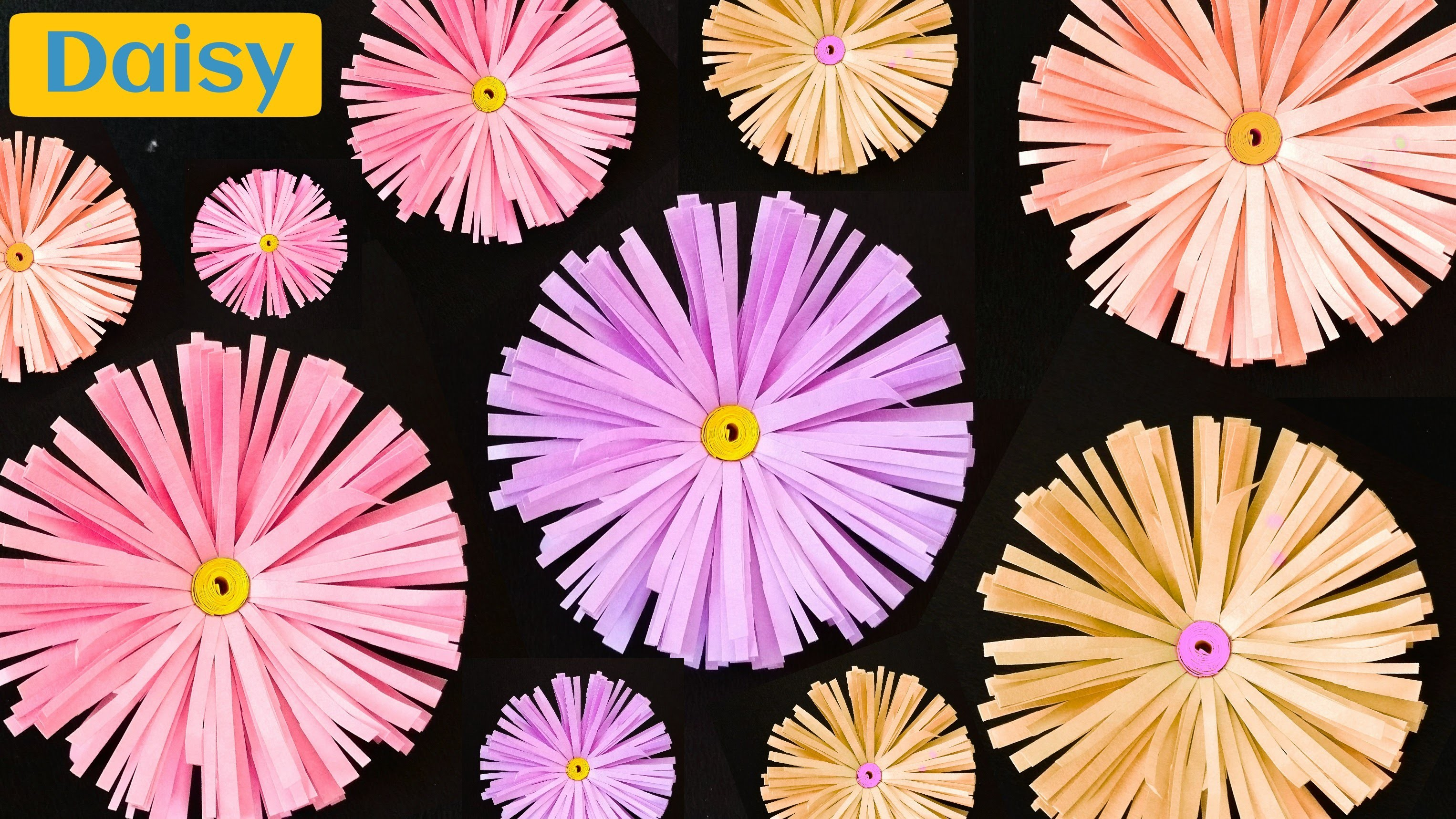 """How to make a """"Daisy Flower"""" - Paper Crafts"""