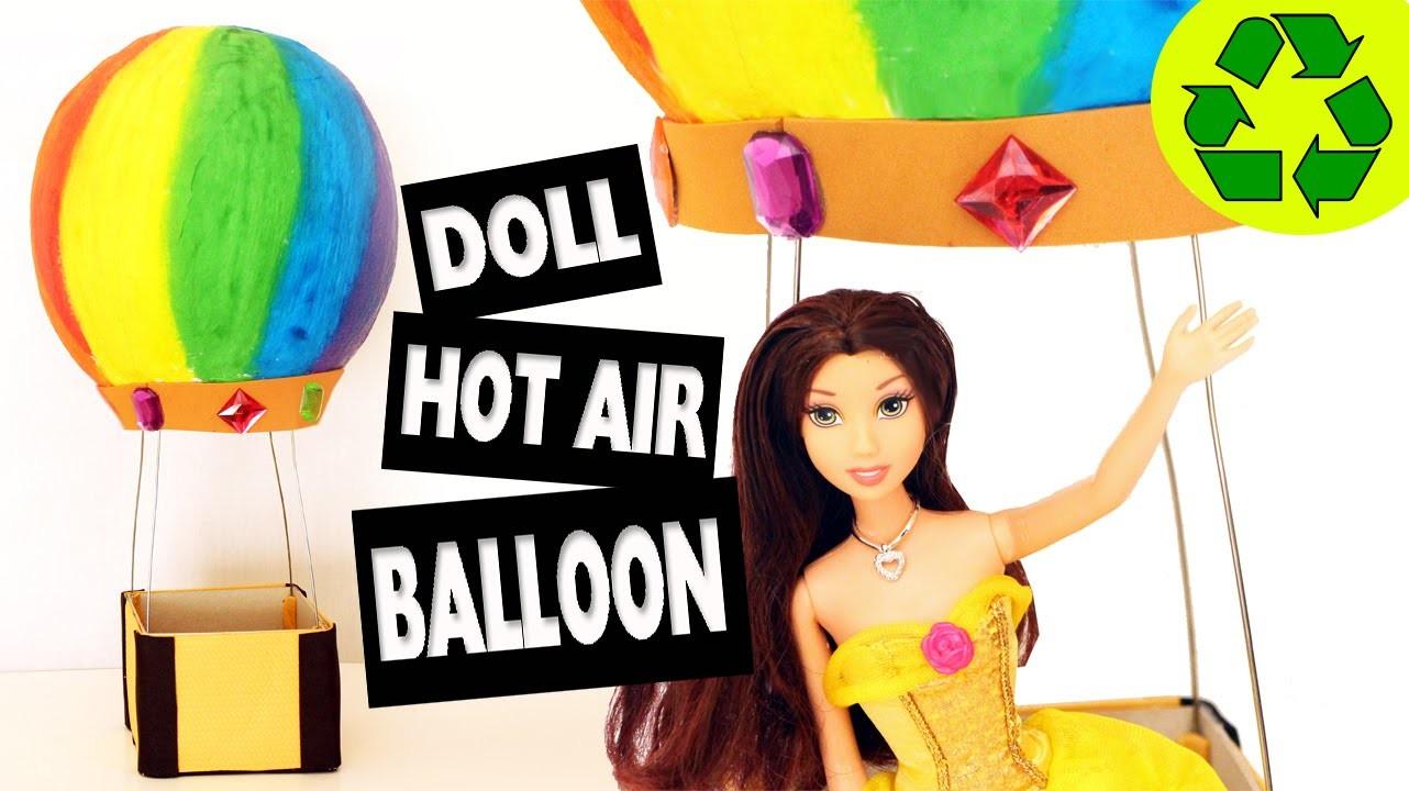 How to make a doll hot air balloon