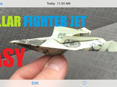How To Make A Epic Fighter Jet Origami Dollar