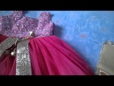 How to make a frock in telugu part1