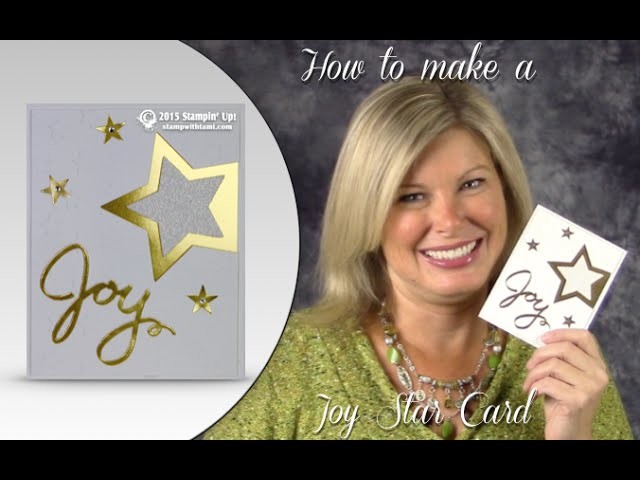 How to make a Gold Joy-Star Cross-over Holiday. New Years Star Card