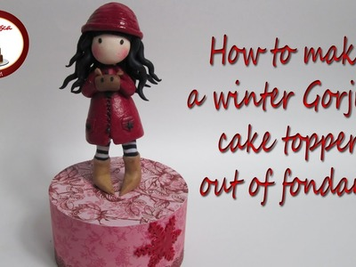 How to Make a Gorjuss Cake Topper out of Fondant