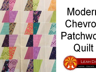 How to make a Modern Chevron Patchwork Quilt