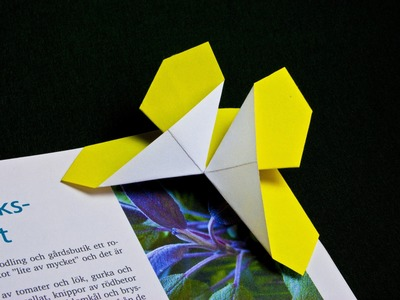 How to make a paper butterfly bookmark