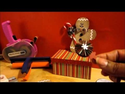 How To Make A Paper Gingerbread Man Embellishment (NO DIES REQUIRED)