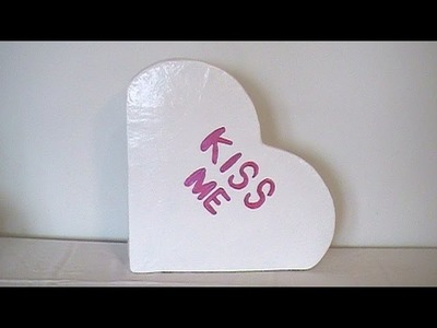 How to Make a Paper Mache Big Conversational Heart