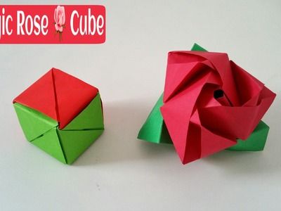 "How to make a paper ""Magic Rose"