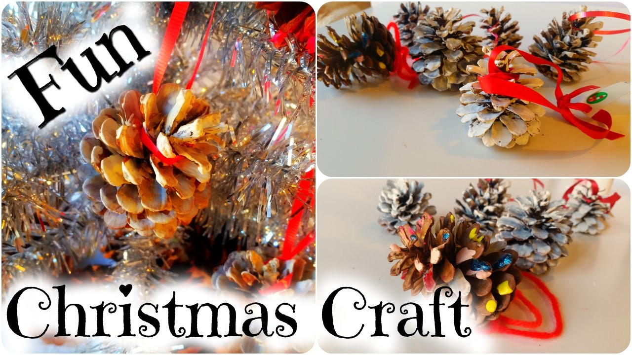 How to Make a Pinecone Christmas Tree Ornament - Easy Kid Christmas Craft by Duck Duck Goose Fun