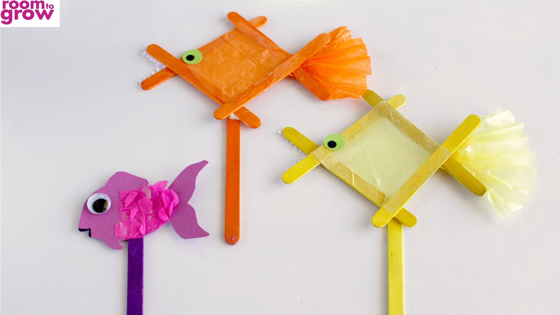 How to Make a Popsicle Stick Fish (Stop-Motion)