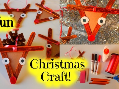 How to Make a Popsicle Stick Reindeer - Easy Kid Christmas Craft by Duck Duck Goose Fun