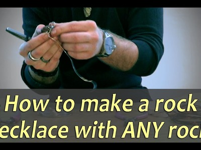 How to Make a Rock Necklace With Any rock!