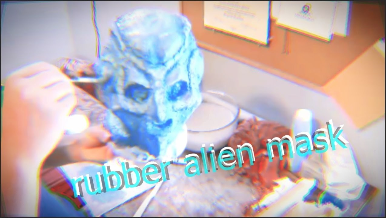 How to make a rubber alien mask.  without any prior experience