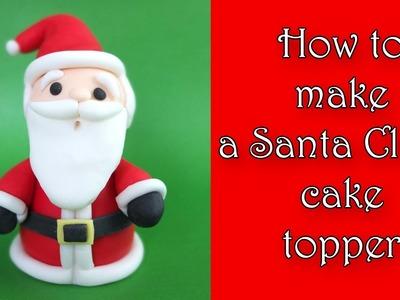 How to make a Santa Claus cake topper. Jak zrobić Mikołaja z masy cukrowej