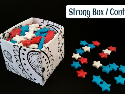 "How to make a simple ""Strong Gift Box"