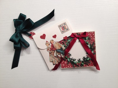 How to Make a Small Package Card and Envelope