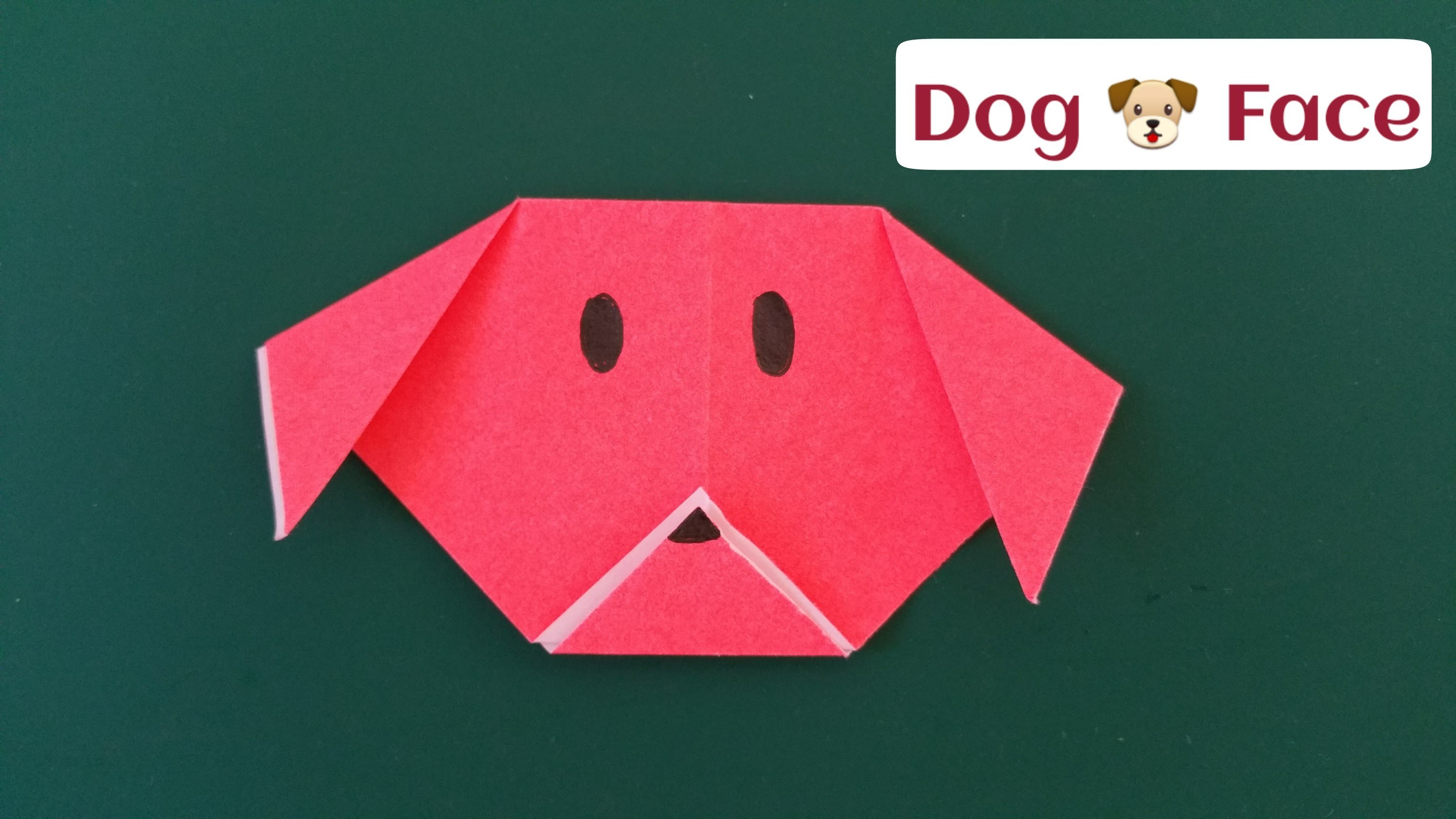"How to make a super easy paper ""Dog"