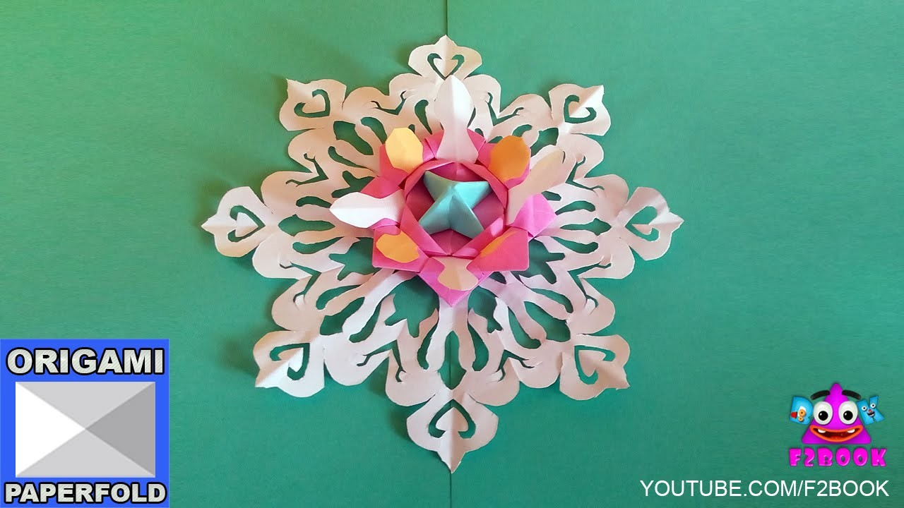 How to make beautiful paper decoration for Christmas - Videos 68   By F2BOOK