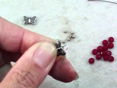How To Make Butterfly Crystal Hoop Earrings