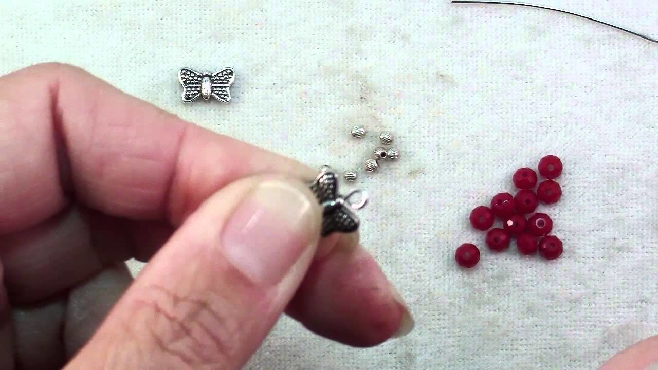 How To Make Butterfly Crystal Hoop Earrings