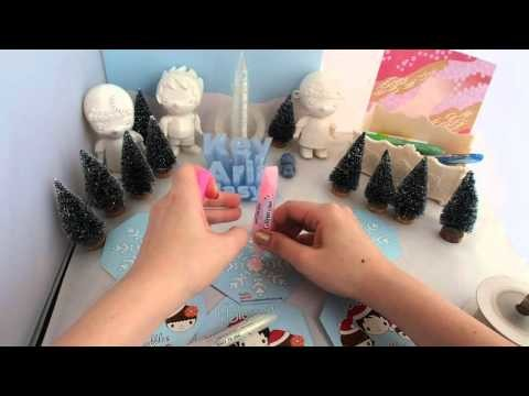 How to make Christmas Ornaments - SNOWFLAKES! HOW TO hole puncher, glitter glues, make a knot!