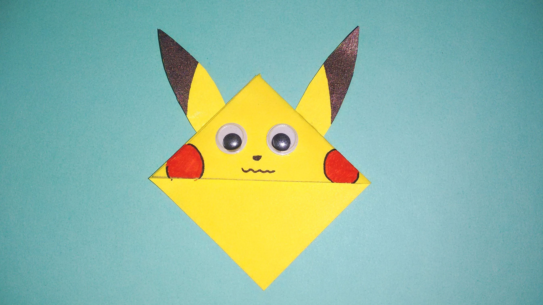 how to make :- creative bookmark    pikachu bookmark    by srushti patil