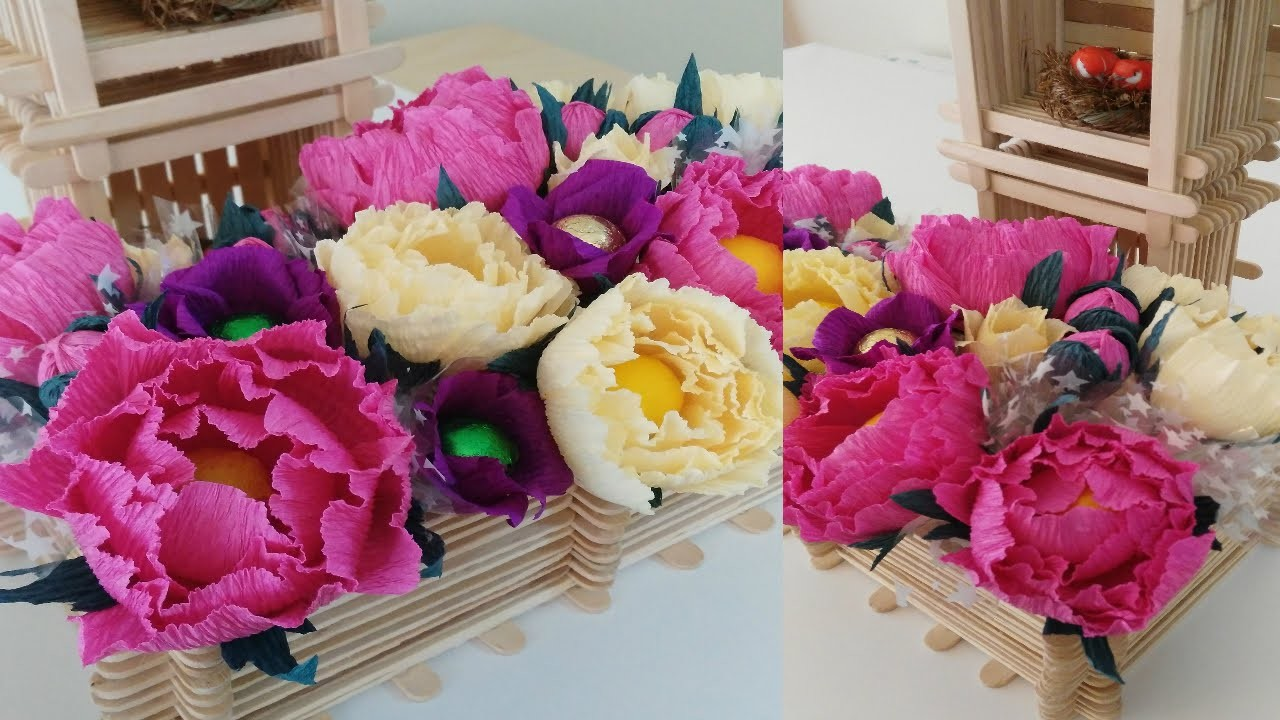 HOW TO MAKE CREPE PAPER PEONY FLOWER