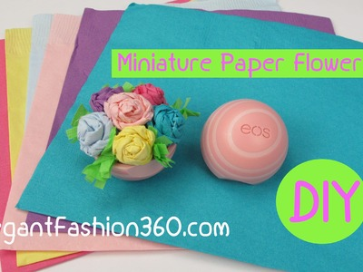 How to Make EOS Miniature Paper Flower Bouquet.Dollhouse Valentine's Gift Idea Craft Tutorial