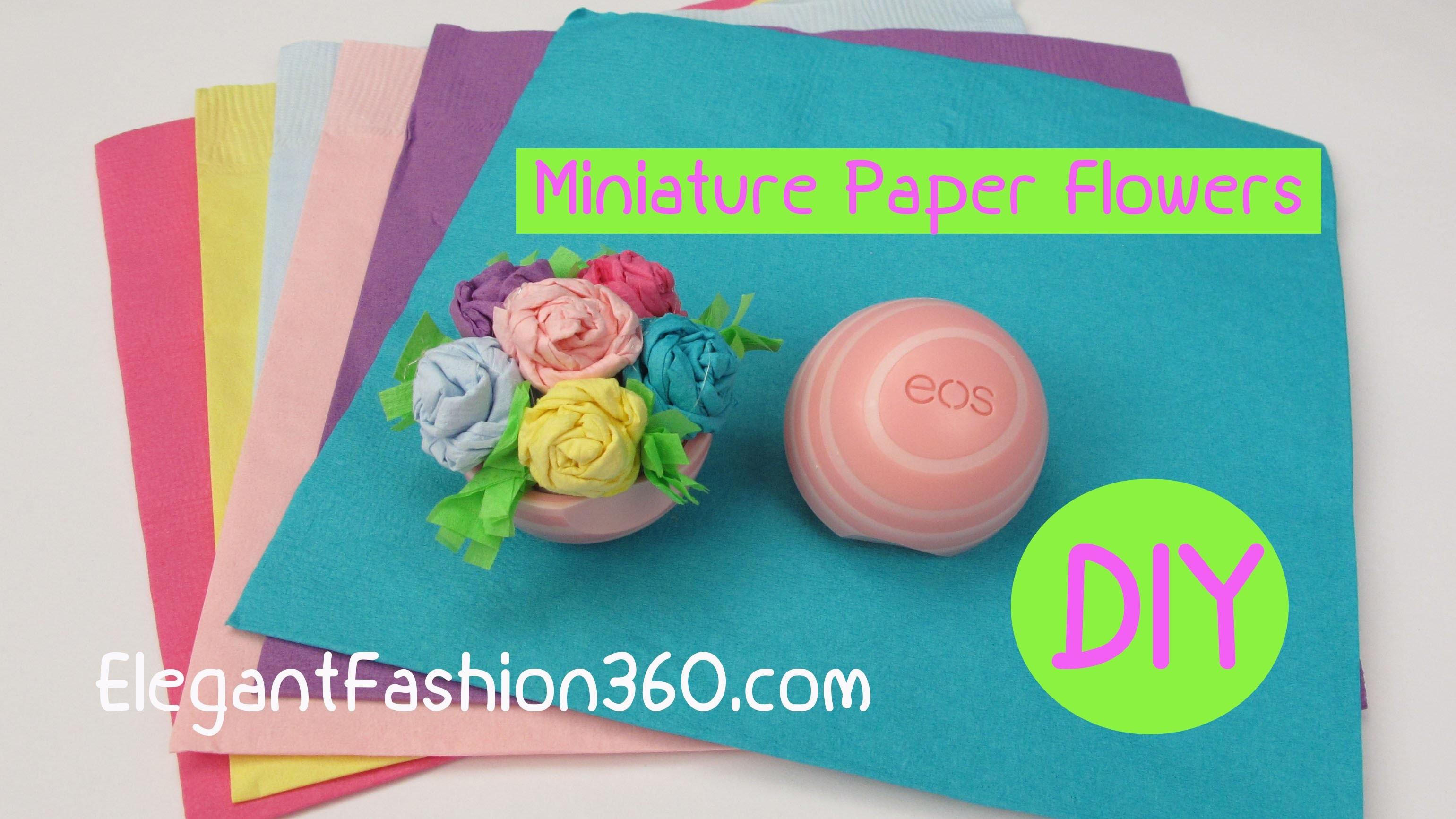 How to Make EOS Miniature Paper Flower Bouquet.Dollhouse Valentine's Gift Idea Craft Tutorial