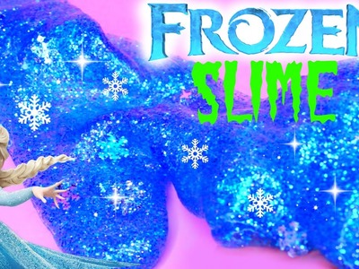 How to Make Frozen Slime Elsa Clay Slime Toys