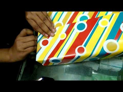 How to make gift wrapping paper Box