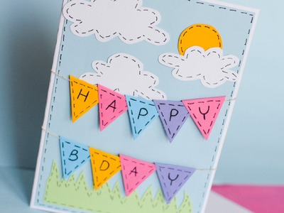 How to Make - Greeting Birthday Card - Step by Step | Kartka Na Urodziny