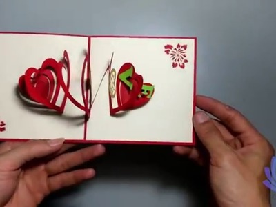 How to make Heart Valentine's Day Greeting Cards Pop-up Cards