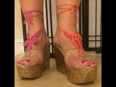 How to Make Knit Barefoot Sandals