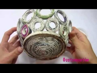 How to make newspaper basket with top