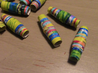 How to Make Paper Beads Using Your Child's Artwork