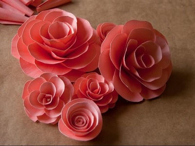 How to make paper roses step by step- Easy paper flower making