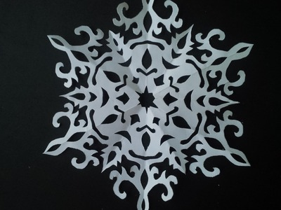 How to make paper snowflake | 5 beautiful snowflake pattern for Christmas | easy paper cutting art