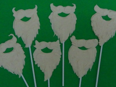 How to make santa beard lolly pops