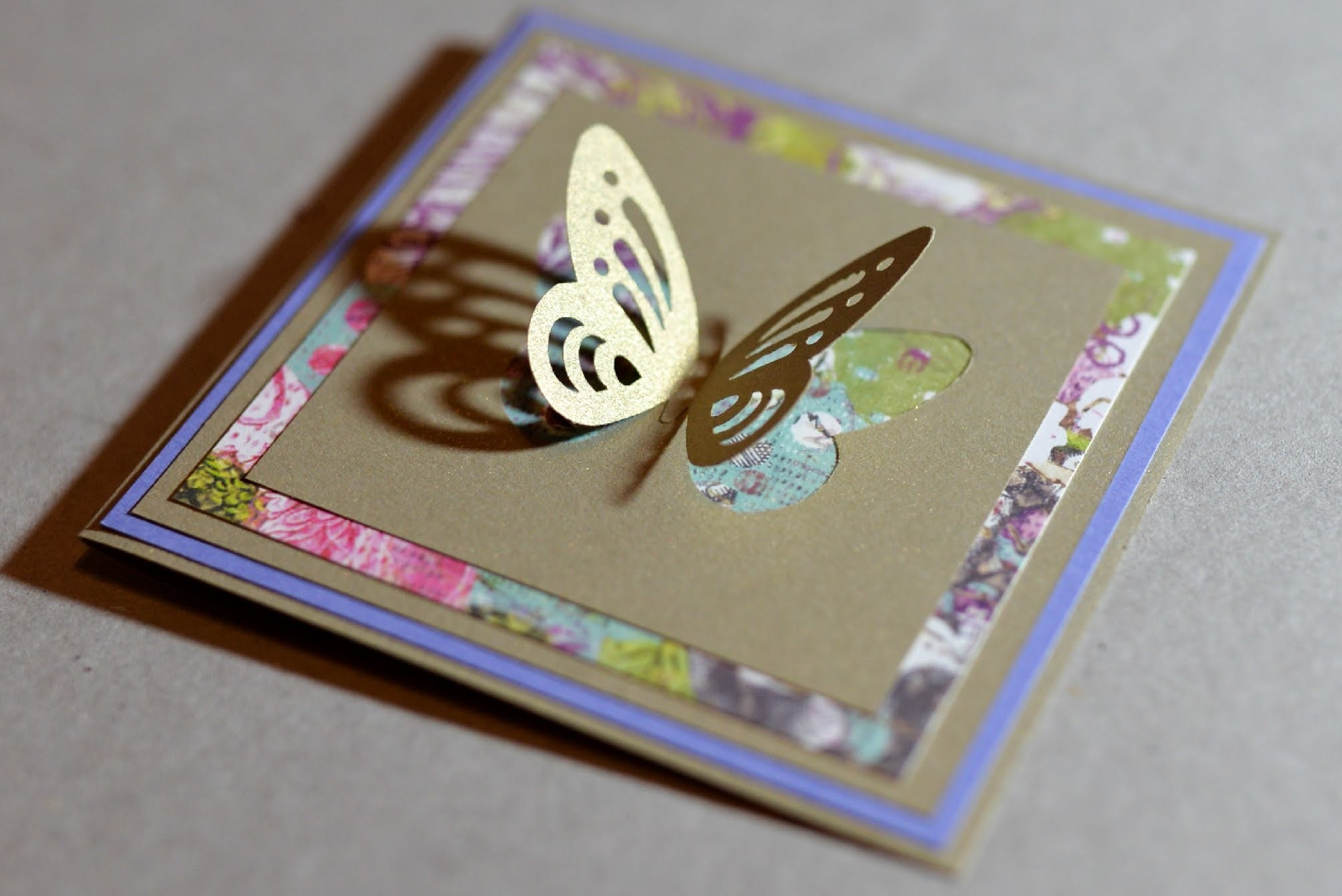 How to Make - Spring Greeting Card With Butterfly - Step by Step   Kartka Z Motylkiem