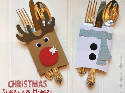 How to make the Christmas Silverware Holders