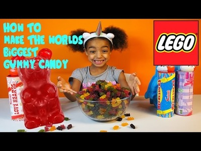 HOW TO MAKE THE WORLDS BIGGEST GUMMY CANDY LEGO | TOYS AND FUN