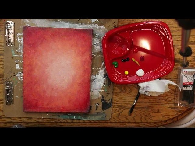 How to Paint a FIRE RED ORANGE BACKGROUND