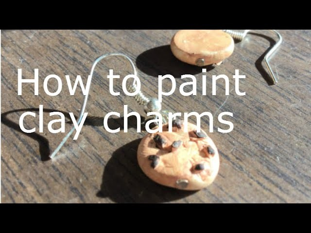 How to paint polymer clay charms