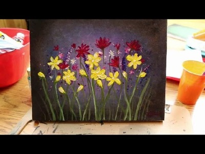 "How to PAINT WILD FLOWERS - Lesson #3 of ""How to Paint Flowers"" (Series)"