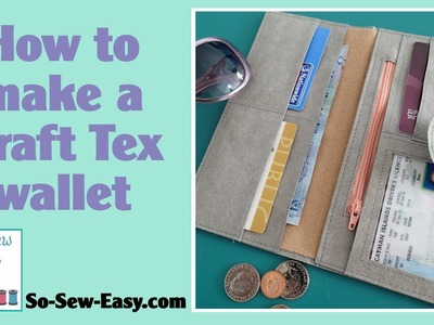 How to sew a Kraft tex wallet - free pattern