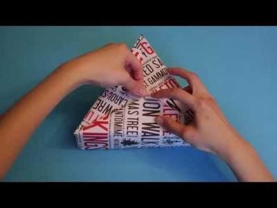 How to wrap a triangular box